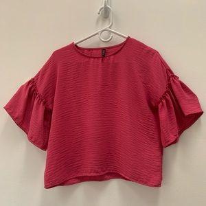 Stradivarius Sleeve Pink Top